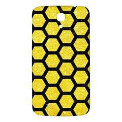 Hexagon2 Black Marble & Gold Glitter (r) Samsung Galaxy Mega I9200 Hardshell Back Case