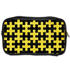 Puzzle1 Black Marble & Gold Glitter Toiletries Bags