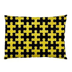 Puzzle1 Black Marble & Gold Glitter Pillow Case (two Sides)