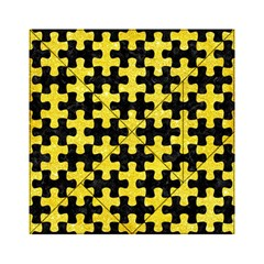 Puzzle1 Black Marble & Gold Glitter Acrylic Tangram Puzzle (6  X 6 )
