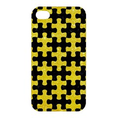 Puzzle1 Black Marble & Gold Glitter Apple Iphone 4/4s Premium Hardshell Case