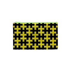 Puzzle1 Black Marble & Gold Glitter Cosmetic Bag (xs)