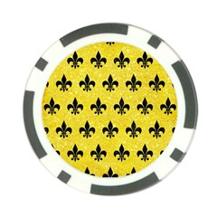 Royal1 Black Marble & Gold Glitter Poker Chip Card Guard (10 Pack)