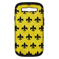 Royal1 Black Marble & Gold Glitter Samsung Galaxy S Iii Hardshell Case (pc+silicone)