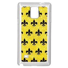 Royal1 Black Marble & Gold Glitter Samsung Galaxy Note 4 Case (white)