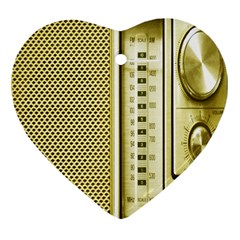 I Love My Radio! Heart Ornament (two Sides)