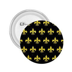 Royal1 Black Marble & Gold Glitter (r) 2 25  Buttons