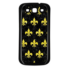 Royal1 Black Marble & Gold Glitter (r) Samsung Galaxy S3 Back Case (black)