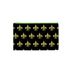 Royal1 Black Marble & Gold Glitter (r) Cosmetic Bag (xs)
