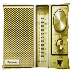 I Love My Radio! Large Flano Cushion Case (one Side)