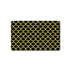 Scales1 Black Marble & Gold Glitter Magnet (name Card)