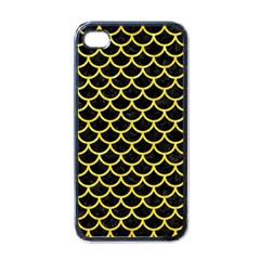 Scales1 Black Marble & Gold Glitter Apple Iphone 4 Case (black)