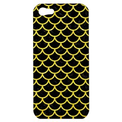 Scales1 Black Marble & Gold Glitter Apple Iphone 5 Hardshell Case