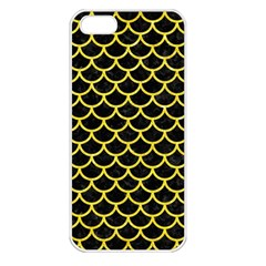 Scales1 Black Marble & Gold Glitter Apple Iphone 5 Seamless Case (white)