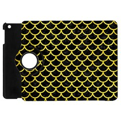 Scales1 Black Marble & Gold Glitter Apple Ipad Mini Flip 360 Case
