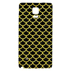 Scales1 Black Marble & Gold Glitter Galaxy Note 4 Back Case