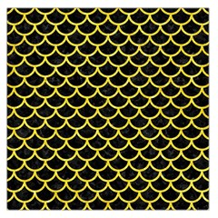 Scales1 Black Marble & Gold Glitter Large Satin Scarf (square)