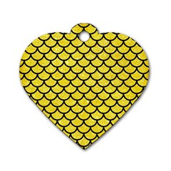 Scales1 Black Marble & Gold Glitter (r) Dog Tag Heart (one Side)