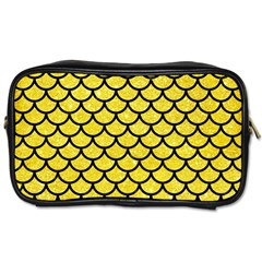 Scales1 Black Marble & Gold Glitter (r) Toiletries Bags 2 Side
