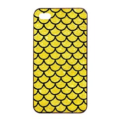 Scales1 Black Marble & Gold Glitter (r) Apple Iphone 4/4s Seamless Case (black)