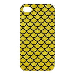 Scales1 Black Marble & Gold Glitter (r) Apple Iphone 4/4s Hardshell Case