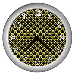 Scales2 Black Marble & Gold Glitterscales2 Black Marble & Gold Glitter Wall Clocks (silver)