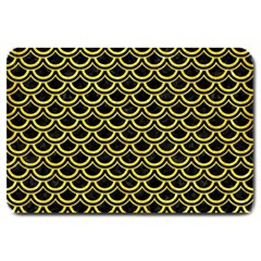 Scales2 Black Marble & Gold Glitterscales2 Black Marble & Gold Glitter Large Doormat