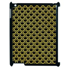 Scales2 Black Marble & Gold Glitterscales2 Black Marble & Gold Glitter Apple Ipad 2 Case (black)