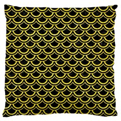 Scales2 Black Marble & Gold Glitterscales2 Black Marble & Gold Glitter Large Cushion Case (two Sides)