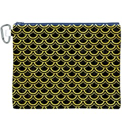 Scales2 Black Marble & Gold Glitterscales2 Black Marble & Gold Glitter Canvas Cosmetic Bag (xxxl)