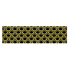 Scales2 Black Marble & Gold Glitterscales2 Black Marble & Gold Glitter Satin Scarf (oblong)