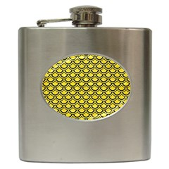 Scales2 Black Marble & Gold Glitter (r) Hip Flask (6 Oz)