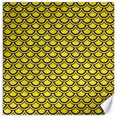 Scales2 Black Marble & Gold Glitter (r) Canvas 20  X 20