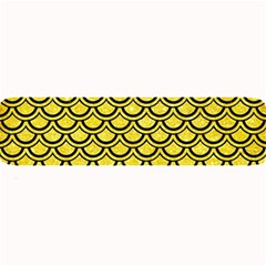 Scales2 Black Marble & Gold Glitter (r) Large Bar Mats