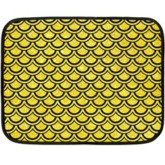 Scales2 Black Marble & Gold Glitter (r) Double Sided Fleece Blanket (mini)