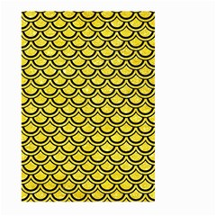 Scales2 Black Marble & Gold Glitter (r) Large Garden Flag (two Sides)