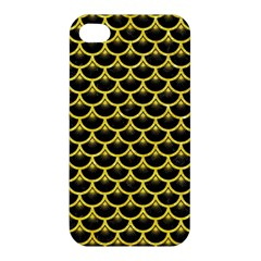 Scales3 Black Marble & Gold Glitter Apple Iphone 4/4s Hardshell Case
