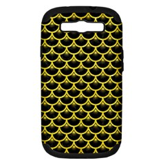 Scales3 Black Marble & Gold Glitter Samsung Galaxy S Iii Hardshell Case (pc+silicone)