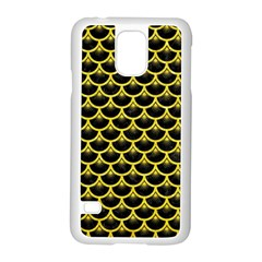 Scales3 Black Marble & Gold Glitter Samsung Galaxy S5 Case (white)