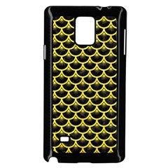 Scales3 Black Marble & Gold Glitter Samsung Galaxy Note 4 Case (black)