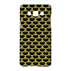 Scales3 Black Marble & Gold Glitter Samsung Galaxy A5 Hardshell Case