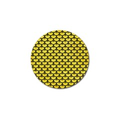 Scales3 Black Marble & Gold Glitter (r) Golf Ball Marker