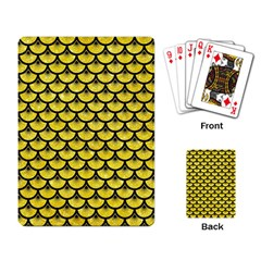 Scales3 Black Marble & Gold Glitter (r) Playing Card