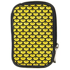 Scales3 Black Marble & Gold Glitter (r) Compact Camera Cases
