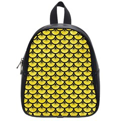 Scales3 Black Marble & Gold Glitter (r) School Bag (small)