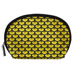 Scales3 Black Marble & Gold Glitter (r) Accessory Pouches (large)