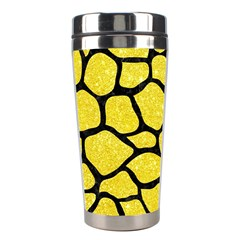 Skin1 Black Marble & Gold Glitter Stainless Steel Travel Tumblers