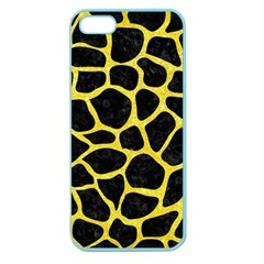 Skin1 Black Marble & Gold Glitter (r) Apple Seamless Iphone 5 Case (color)