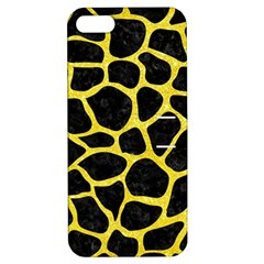 Skin1 Black Marble & Gold Glitter (r) Apple Iphone 5 Hardshell Case With Stand