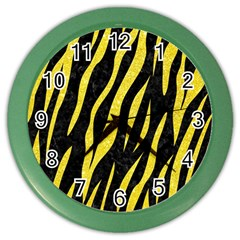 Skin3 Black Marble & Gold Glitter Color Wall Clocks